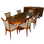 Beautiful 8 Piece Art Deco Dining Set c. 1920