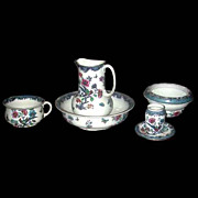 American Wash Set with Birds & Floral Pattern