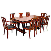 Fabulous 9 Pc Art Deco Dining Set