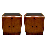 Beautiful Pair of Art Deco Nightstands c. 1920