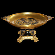French Bronze Round Empire Coupe Dish
