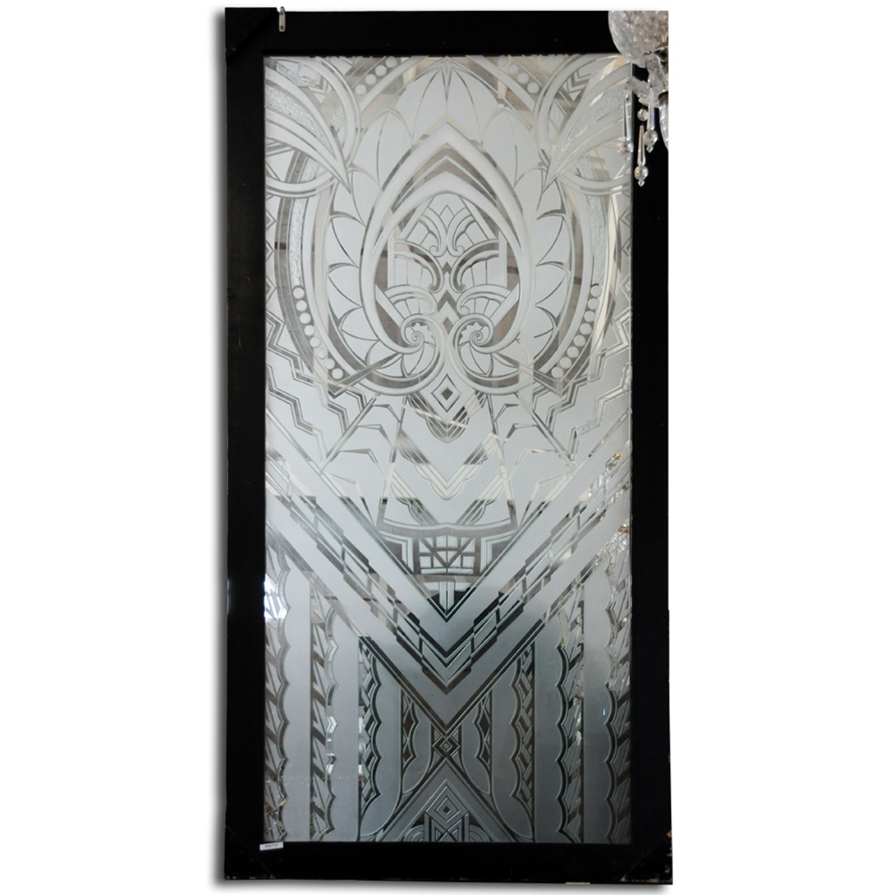 6973 Art Deco Etched Glass Window From