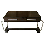 Art Deco Table/Desk with Chrome Handles