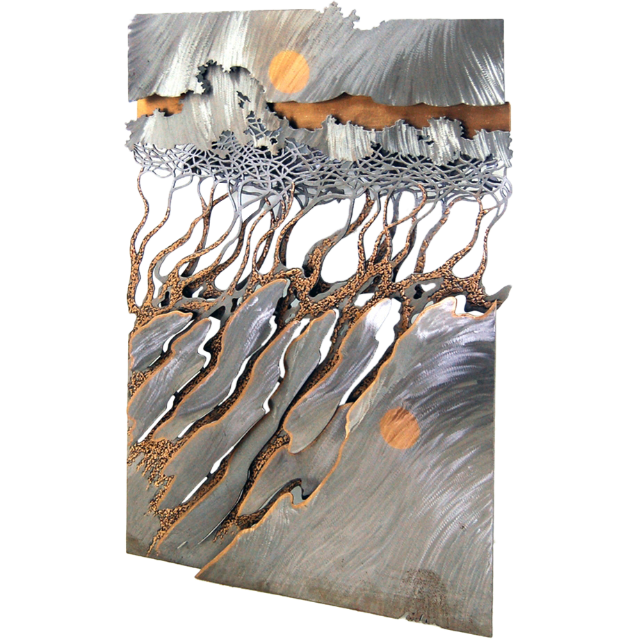 Custom sheet metal wall art 1000 ideas about metal wall for Fomic sheet wall hanging
