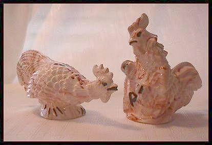 Fighting Roosters (Cocks) Salt and Pepper Shakers from Alaska