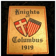 Knights of Columbus 1919 Matchbook Holder