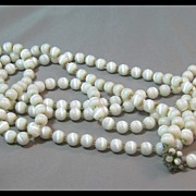 Ultra Long White Necklace