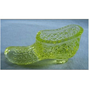 Degenhart Mini Slipper in Vaseline Glass