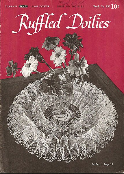 Crochet Booklet of Ruffled Doilies by Clark's O.N.T.