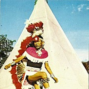 Navajo American Indian Dancing at Indian City, U.S.A., Oklahoma