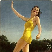 Lovely Bathing Beauty Postcard