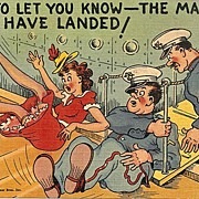 Humorous Military Postcard - Marines Have Landed