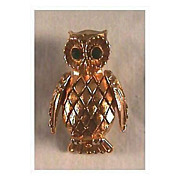 Solid Perfume Owl Pin Brooch by Vanda