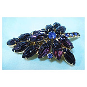 Fabulous Juliana Art Glass Amethyst Colored Pin