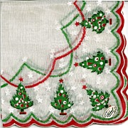 Burmel Hankie with Christmas Trees