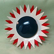 Red, White, and Blue Enamel Atomic Pin