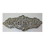 Hallmarked Silver Buckle with Many Cherubs