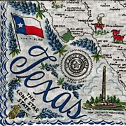 Texas State Hankie Handkerchief - The Lone Star State