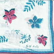 Faith Austin Hankie Handkerchief in Blue and Pink