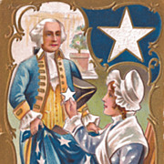 George Washington Postcard - Adopting the Five Pointed Star