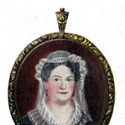 Postcard Featuring Miniature of Rachel Donelson Jackson wife of General Jackson
