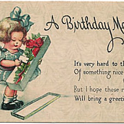 C. Twelvetrees Birthday Postcard