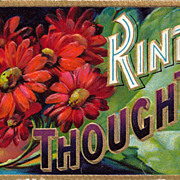 Kind Thoughts Postcard with Bright Flowers