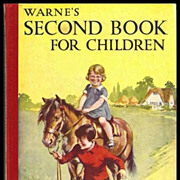 SALE Warne's Second Book for Children Art Deco - Children's Stories