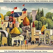 Postcard of Oriental Section, Streets of All Nations, Texas Centennial Exposition, Dallas