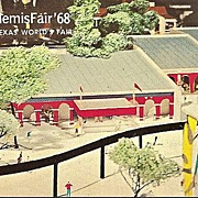 HemisFair 1968 Texas World's Fair Postcard