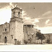 Real Photo Postcard of San Jose Mission, San Antonio, Texas