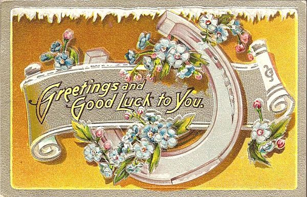 Good Luck Horseshoe Post Card