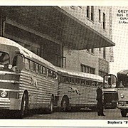 Real Photo Postcard of Greyhound Bus Depot in El Paso, Texas