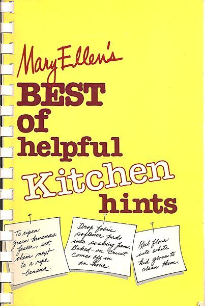 Mary Ellen's Best of helpful Kitchen hints - Spiral Bound Book