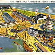 "Postcard of ""Enchanted Island"" a Playground for Children at the Chicago World's Fair"