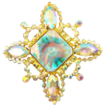 Aurora Borealis Specialty Rhinestone Brooch