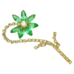 Big Vintage Yellow/Green Rhinestone Flower Pin/Brooch