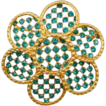 Vintage Teal Green Rhinestone Pin