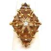 Chunky Topaz Rhinestone Ring - Geometric