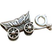 Sterling Covered Wagon Charm