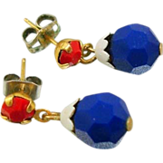 Vintage Red/White/Blue Post Earrings