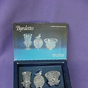 Hofbauer Crystal Byrdettes in Original Box