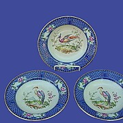 Early 1900's Royal Doulton Flow Blue Soup Bowls