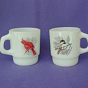 Vintage Anchor Hocking Coffee Mug Pair