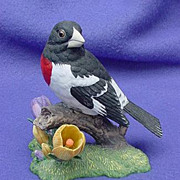 1991 Lenox Rose-breasted Grosbeak Figure