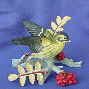 1980's RSPB Siskin Figurine by Franklin Mint