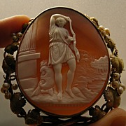 Rarest Museum Quality Shell Cameo of an Amazon ca. 1850