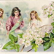 """Welcome Easter Morning"" - Angels - Dogwood Flowers"