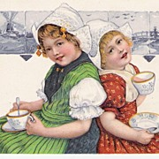 Darling Dutch Children - Postcard