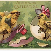 """All Joy To You This EASTERTIDE"" - Baby Chicks - Postcards"